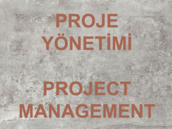 PROJE YONETIMI/ PROJECT MANAGEMENT